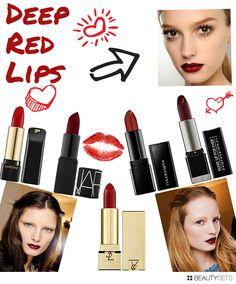 Deep Red Lips - http://www.beautysets.com/sets/8086 - Lips