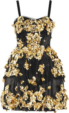 DOLCE & GABBANA Embellished Mesh Dress - Lyst