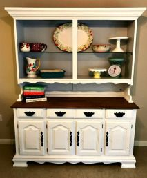 Rental Dining Room Makeover With Table Redo And Thrift Store Hutch How To