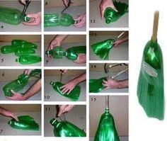 Repurpose 2 Liter Soda Bottle to Make Your Own Broom