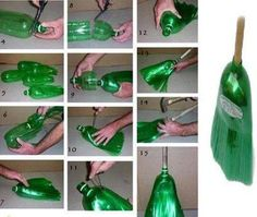 Repurpose 2 Liter Soda Bottle to Make Your Own Broom