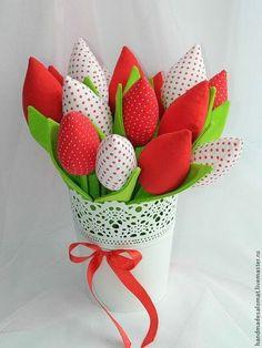 Куклы Тильды ручной работы. Ярмарка Мастеров - ручная работа Тюльпаны красные и белые (15 шт). Handmade.