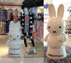 Shanghai shopping, fashion boutiques and malls - Miffy twopercent store! http://www.lacarmina.com/blog/2015/04/goth-magazine-cover-shanghai-art-moganshan-lu-m50/ ' miffy statue, shanghai china