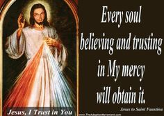 """""""There is nothing more man needs than Divine Mercy""""– ~St. John Paul II #DivineMercy #Catholic #Ccot"""
