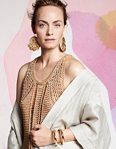 Amber Valletta stars in the H&M Conscious Collection.