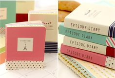 Novelty Korean colorful pocket diary notebook for DIY scrapbook, writing, painting, drawing, graffiti on Etsy, $7.90