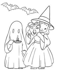 91 Beste Afbeeldingen Van Halloween Heksen Toveren Kleurplaten