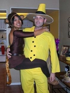 Courious George & The Man in the Yellow Hat Couples Costumes  Photo: The Nest