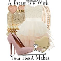 """Ombre dress! <3 """"A Dream Is A Wish Your Heart Makes"""" by leslieakay on Polyvore"""