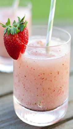 Strawberry Riesling Slushies