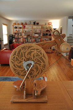 Jump Sheep: The Aura Spinning Wheel by Majacraft in Maori-inspired gear