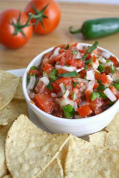 Fresh salsa fresca (pico de gallo). Perfect for summer!