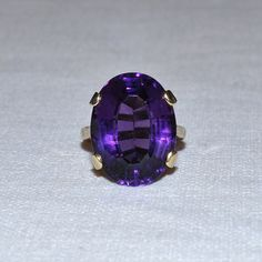 Amethyst+Cocktail+Ring+by+VintageFineJewellery+on+Etsy