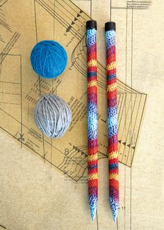 Decorate your knitting needles