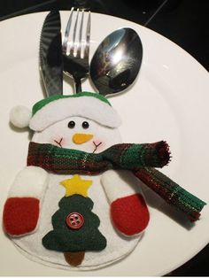 GET $50 NOW | Join RoseGal: Get YOUR $50 NOW!http://www.rosegal.com/christmas-decorations/christmas-snowman-knives-forks-cover-863340.html?seid=7754273rg863340