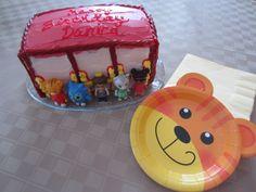 Daniel Tiger's Neighborhood Trolley Birthday Cake & Party