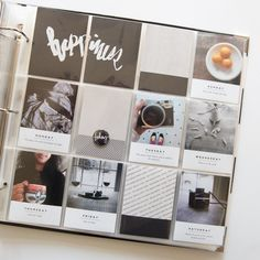 Happiness Project Life Layout by azzari at @studio_calico