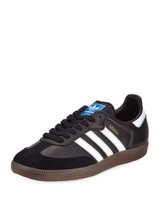 info for 90e61 2d150 Adidas Samba Classic Leather Sneaker, Black