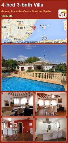 4-bed 3-bath Villa in Javea, Alicante (Costa Blanca), Spain ►€385,000 #PropertyForSaleInSpain