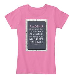 """A mother is she who can take the place LIMITED TIME ONLY! ( For mothers day only ) Not available in stores. Don't Miss Out!  HOW TO ORDER: 1. Select the style and color you want: T-Shirt / Hoodie 2. Click """"Reserve it now"""" 3. Select size and quantity 4. Enter shipping and billing information 5. Done! Simple as that!   Guaranteed safe and secure checkout via: Paypal   VISA   MASTERCARD"""