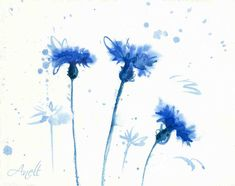 Hey, I found this really awesome Etsy listing at https://www.etsy.com/listing/230763136/watercolor-painting-cornflower