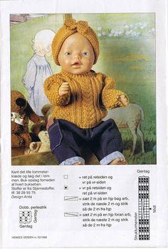 Sy og Strik til Babyborn - Elesy Lena - Picasa Web Albums Baby Born Clothes, Preemie Clothes, Knitting Dolls Clothes, Crochet Baby Clothes, Knitted Dolls, Girl Doll Clothes, Doll Dress Patterns, Doll Sewing Patterns, Baby Patterns