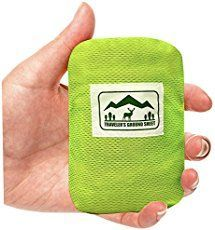 Pocket blanket or traveler's ground sheet: Easy to pack for impromptu use for hiking, camping, picnic, beach, travel. Water resistant and compact lightweight storage pouch