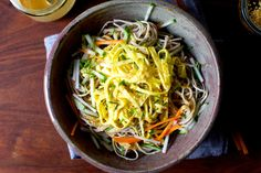 sesame soba and ribboned omelet salad | smittenkitchen.com