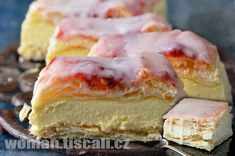 Czech Desserts, Sweet Desserts, Sweet Recipes, Cake Recipes, Bread Dough Recipe, Sweet Cooking, Czech Recipes, Sweet Cakes, Desert Recipes
