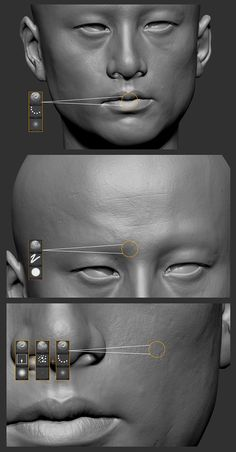 pore skin tut #3d #sculpting #tutorials
