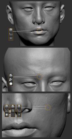 pore skin tut #3d #sculpting #tutorials