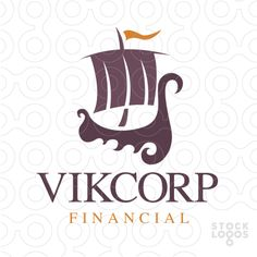 Logo for sale: Stylized Viking ship