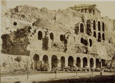 Facade of the Odeon of Herodes Atticus. Athens, circa 1865. Dimitrios Constantinou
