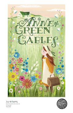 Anne of Green Gables book cover for Scholastic/Jill Howarth Illustration