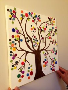 63 ideas for tree art projects for kids preschool Button Tree Art, Button Art, Button Crafts, Fall Crafts, Arts And Crafts, Paper Crafts, Diy Crafts, Halloween Crafts, Cool Art Projects
