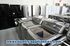 Washing machines and dryers for sale at New Country Appliances. Save up to 60% off!  Shop New Country Appliances for: #Refrigerators, #Ranges, #Freezers, #Washerdryers, #Cooktops, #hoodfans, #Microwaves, #overtherangehoodfans, #dishwashers, #Electronics, #TVsincludingPLASMA, #LCD, #LED, #3D, #SMART, #4K, #HomeAudio, #SurroundSystems, #TVStands, #WallMounts, #AirConditioners, #VideoGames, #surreyappliances, #appliancesinsurrey, #surreryappliancesbc, #appliancessurreybc