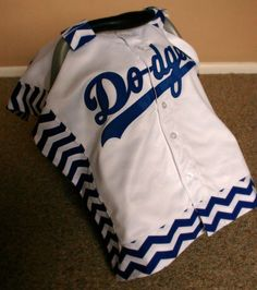 Sports Infant Car Seat Cover Dodgers Baby Car Seat by ZuzusDesigns, $79.00