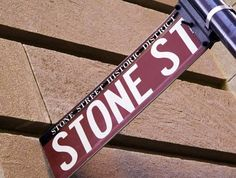 Stone Street, NYC: part of NYC's Historic Financial District, locally nicknamed FiDi.