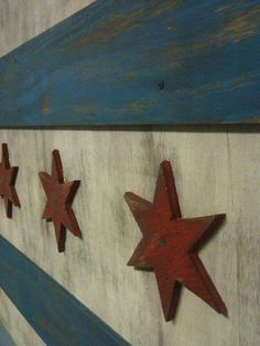 Wooden 3d vintage chicago flag from vintage smith signs