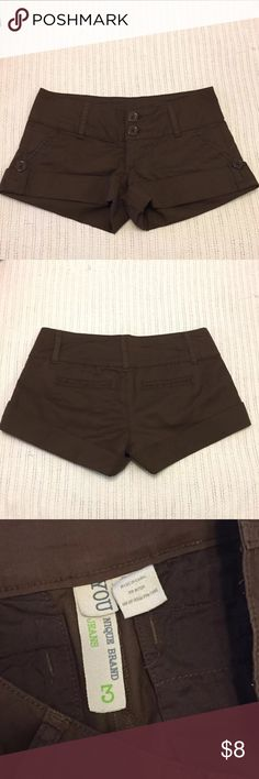 brown Younique shorts ~size 3~ brown Younique shorts. worn but in good condition! YOUNIQUE Shorts