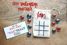 DIY  Personalized Tic Tac Toe Valentines made with Cutting Machine and Vinyl