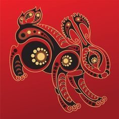 This beautiful graphic of a Chinese zodiac Rabbit was created by Regina555 at 123RF.com.