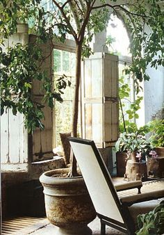 Orangerie AJF Design Outdoors t Gardens Patios and Indoor Window Boxes, Decorative Water Fountain, Sunroom Decorating, Sunroom Ideas, Decorating Tips, Interior Decorating, Interior Design, Sunroom Furniture, Garden Lanterns