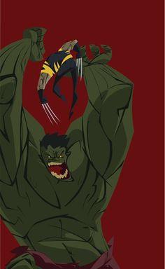 #Hulk #Fan #Art. (The Hulk vs Wolverine) By: Kris Anka. (THE * 5 * STÅR * ÅWARD * OF: * AW YEAH, IT'S MAJOR ÅWESOMENESS!!!™)