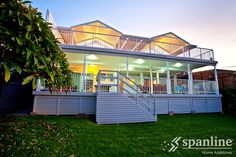 With over 30 years experience, Spanline can help you create the perfect outdoor space, suited just to you and your lifestyle! Gable Roof, Roof Deck, Australian Homes, Home Additions, Sunroom, 30 Years, Mansions, House Styles, Courtyards