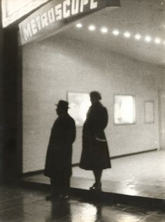 Couple at Metroscope, 1960s by Reinhart Wolf