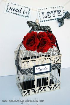 red, ivory and black wedding - Google Search