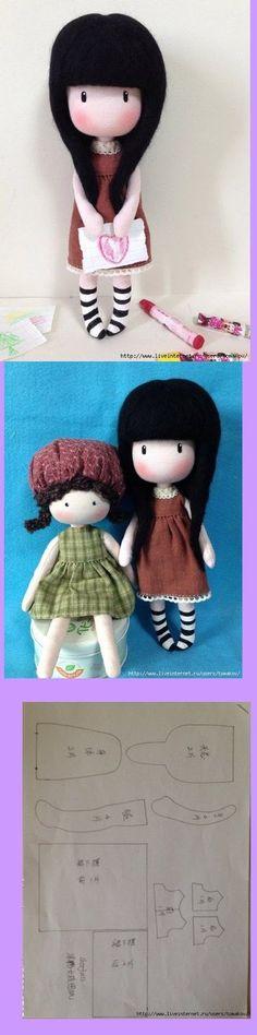 Este es un patrón muy fácil para hacer una bonita muñeca de trapo que se parece mucho a las gorjuss que estan muy de moda. Además al llevar...