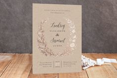 """Painted Wreath"" - Customizable Foil-pressed Wedding Invitations in Pink by Jennifer Wick. Free Printable Wedding Invitations, Free Printable Birthday Invitations, Blush Wedding Invitations, Rustic Invitations, Wedding Stationery, Invitation Ideas, Invite, Wedding Frames, Wedding Cards"