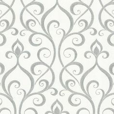 Beacon House Demeter Glamorous Ogee Scroll Wallpaper Gray - 484-68027